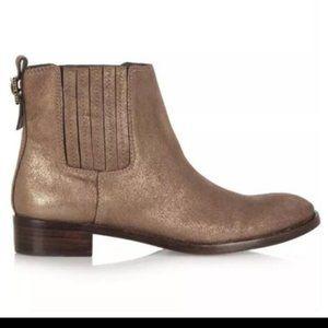 Tory Burch Wade Bronze Booties Boots 8.5